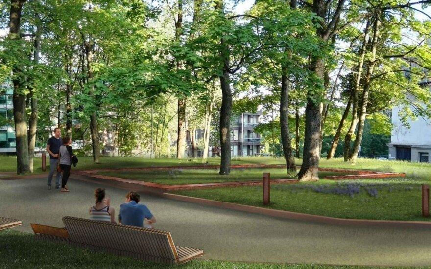Atnaujintos Liuteronų sodų teritorijos vizualizacija