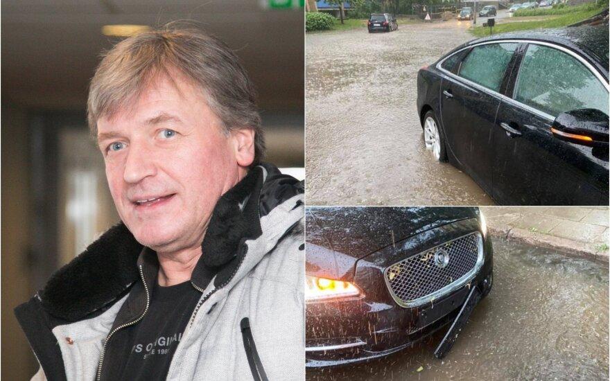 Ž.Žvagulis ir jo automobilis / Foto: Delfi, asm.archyvo