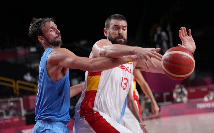 Ispanijos vyrų krepšinio rinktinės vidurio puolėjas Marco Gasolis