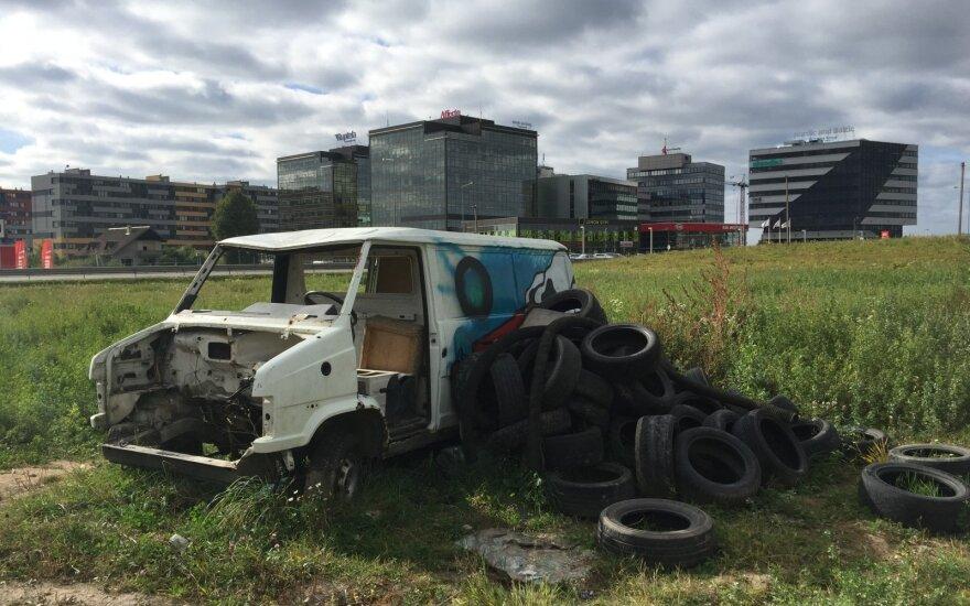 Padangų atliekos mieste