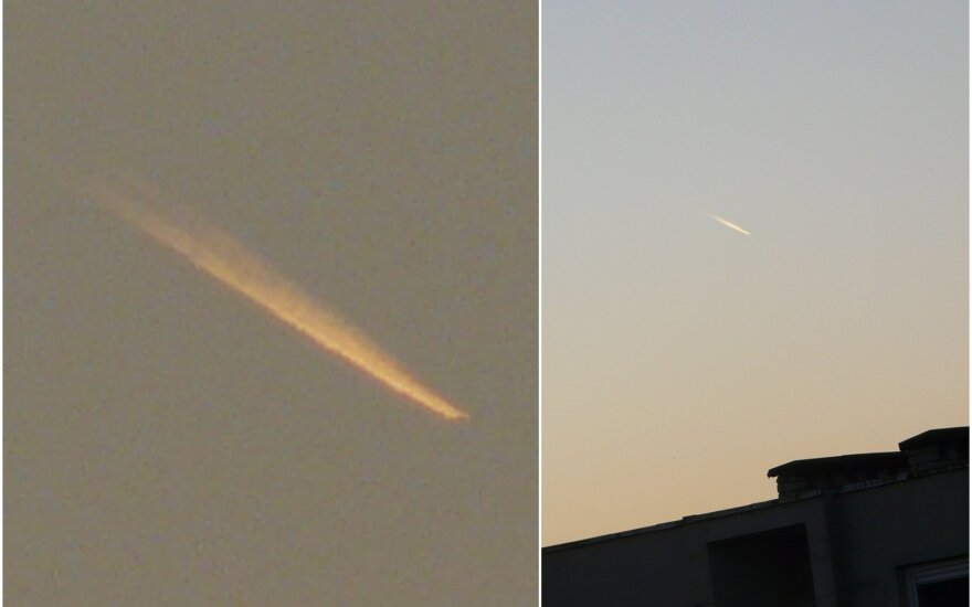 Objektas danguje netoli Vilniaus sukėlė įtarimų. S. Kizos nuotr.