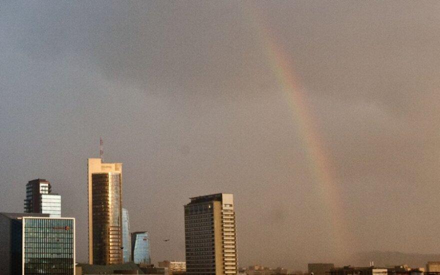 Sausio pradžioje virš Vilniaus nušvirto vaivorykštė