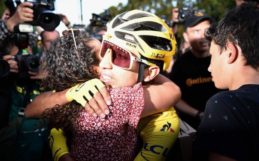 """""""Tour de France"""" čempionu pirmą kartą istorijoje tapo kolumbietis"""