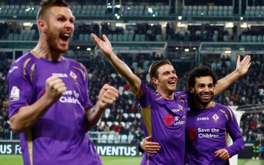 """Florencijos """"Fiorentina"""" klubo futbolininkai"""
