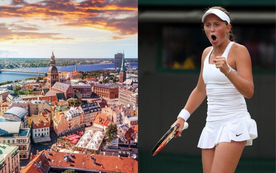 Lietuviams nesutariant dėl Vilniaus reklamos Ryga parodė, ką gali: miesto reklamoje – visame pasaulyje žinoma sportininkė