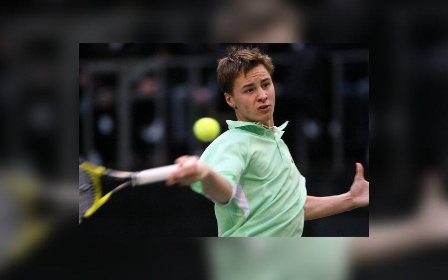 R.Berankis pergalingai pradėjo teniso turnyro Turkijoje kvalifikaciją