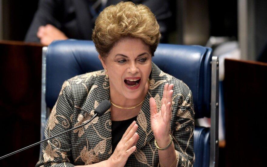 Nušalintoji Brazilijos prezidentė padavė apeliaciją