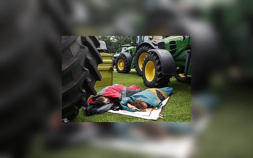Ūkininkai dviejų dienų protesto aksijoje Briuselyje