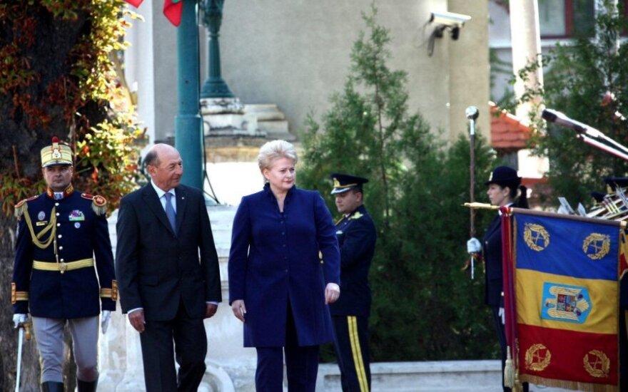 Traianu Basescu ir Dalia Grybauskaitė president.lt nuotr.