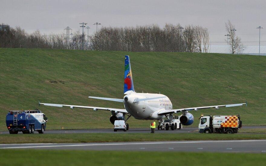 Lithuanian plane veers off runway at Birmingham airport