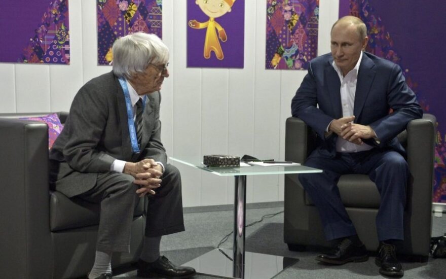 Bernie Ecclestone'as ir Vladimiras Putinas