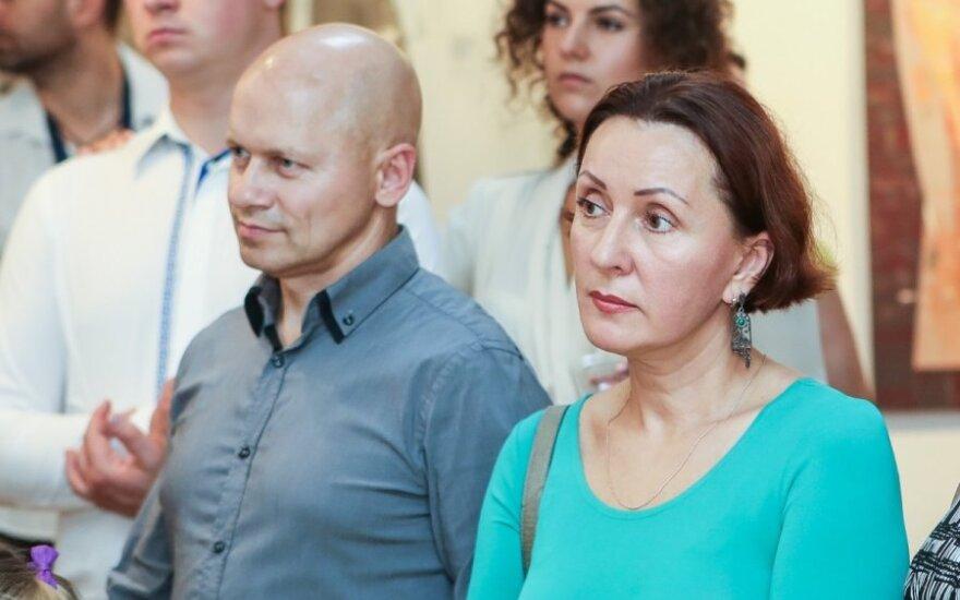 Vaiva Budraitytė su vyru Gaudentu