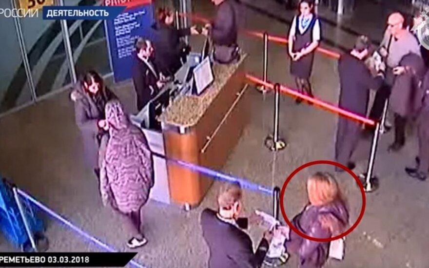 Rusija tikina atsekusi Julijos Skripal kelionę: paviešino vaizdo įrašą
