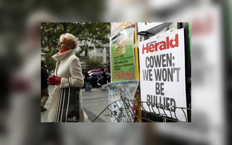 Airijos centrinis bankas tikisi, kad šalis priims pagalbą