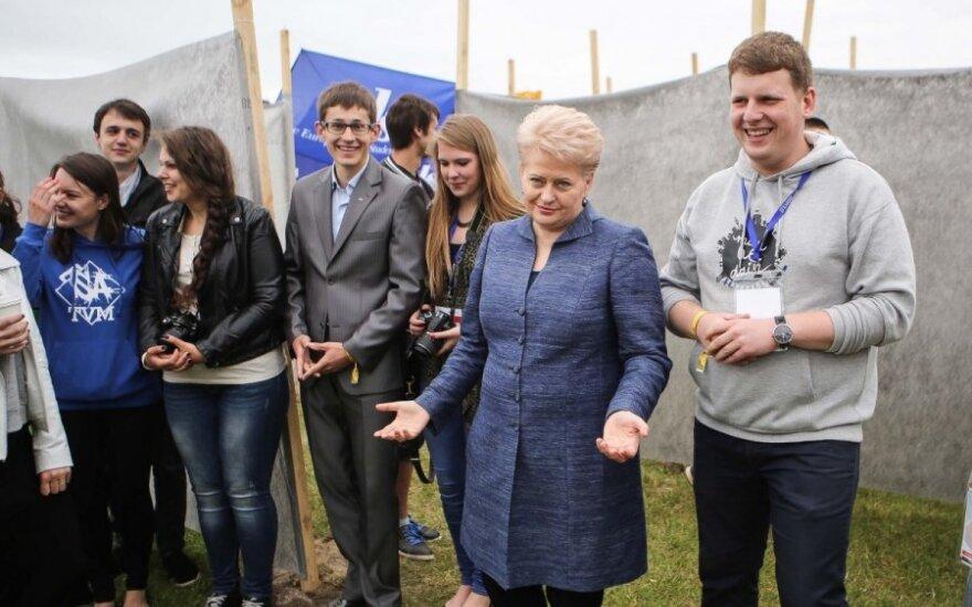 Dalia Grybauskaitė at World Lithuanian Youth Meeting