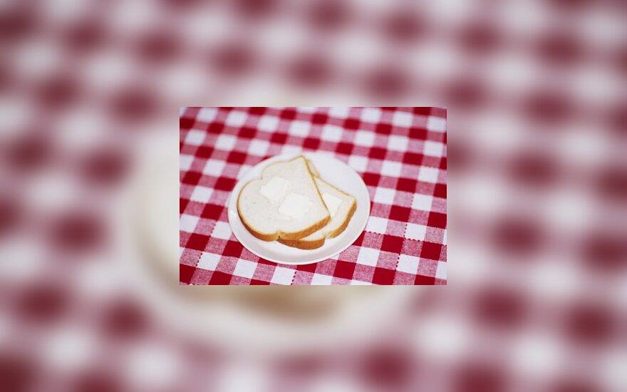 Skrudinta duona, staltiesė, kavinė, pusryčiai, duona, maistas