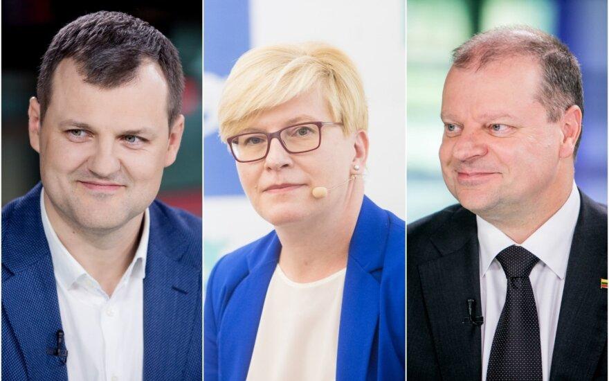 Gintautas Paluckas, Ingrida Šimonytė, Saulius Skvernelis.