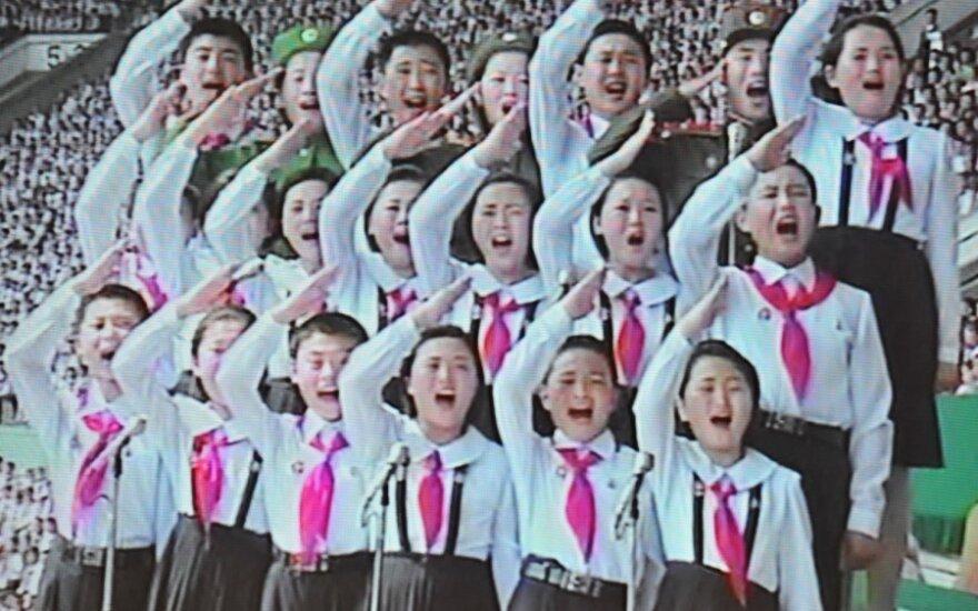 Vaikai Šiaurės Korėjoje