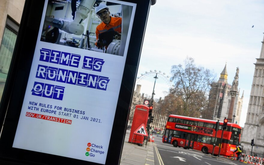 A British government informational poster is seen on a bus stop, amid the coronavirus disease (COVID-19) pandemic, in London, Britain, December 30 2020.