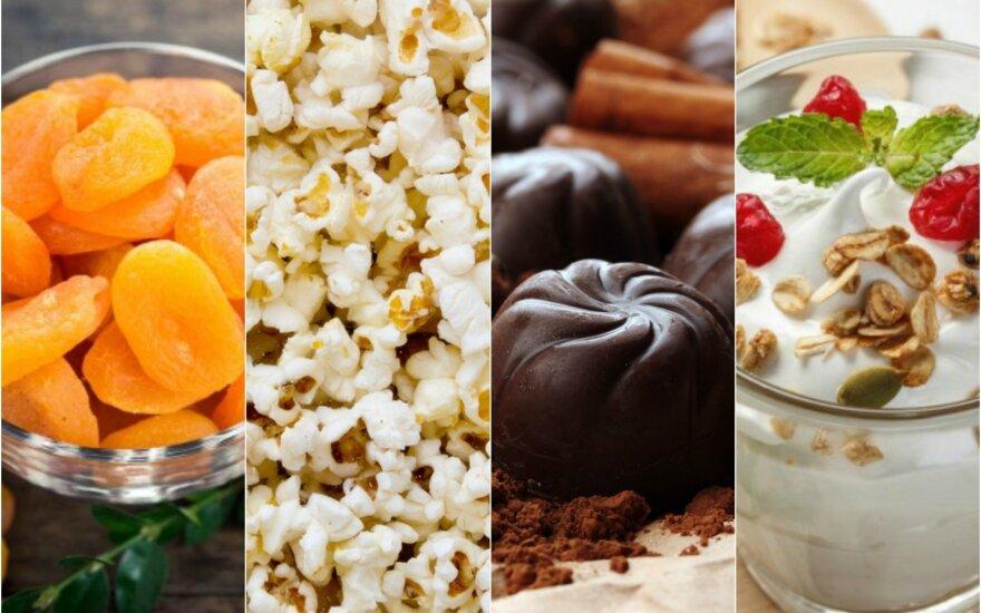 10 geriausių užkandžių norintiems mesti svorį
