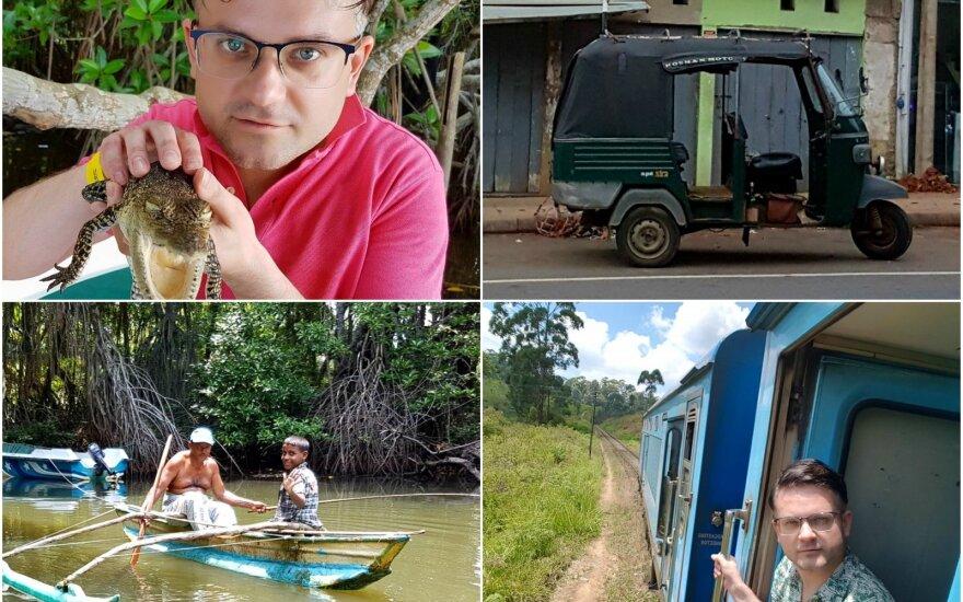 Edvardo Žičkaus atostogos Šri Lankoje