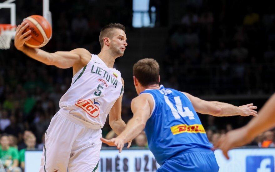 Kontrolinės krepšinio rungtynės Lietuva - Islandija