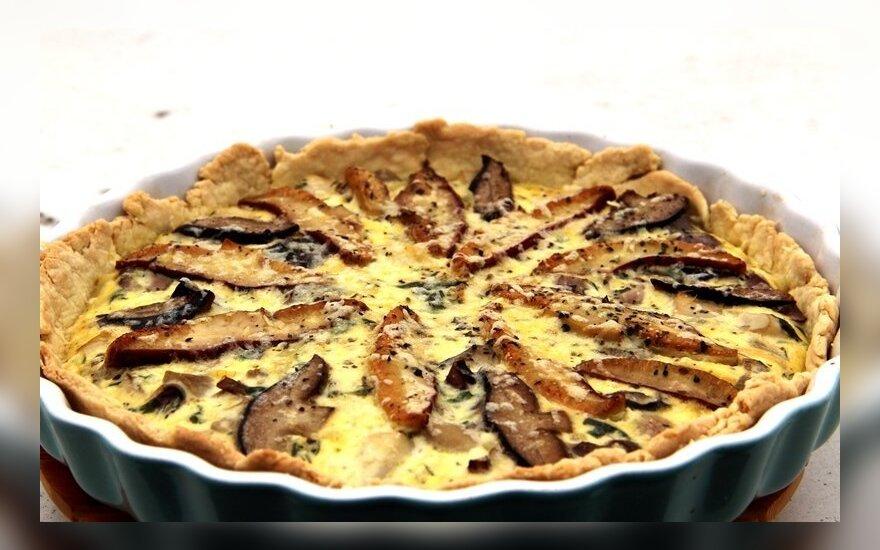 Skanesnio grybų pyrago nevalgėte: traškiame pagrinde - kvapnūs baravykai