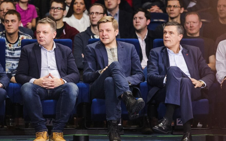 Liberal politicians Eligijus Masiulis, Remigijus Šimašius, Linas Kvedaravičius