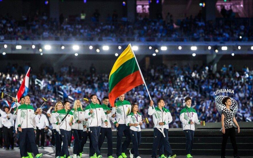 Lietuvos delegacija Europos žaidynių atidarymo ceremonijoje