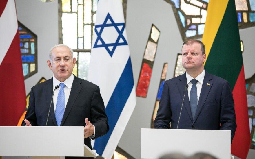 Benjaminas Netanyahu, Saulius Skvernelis