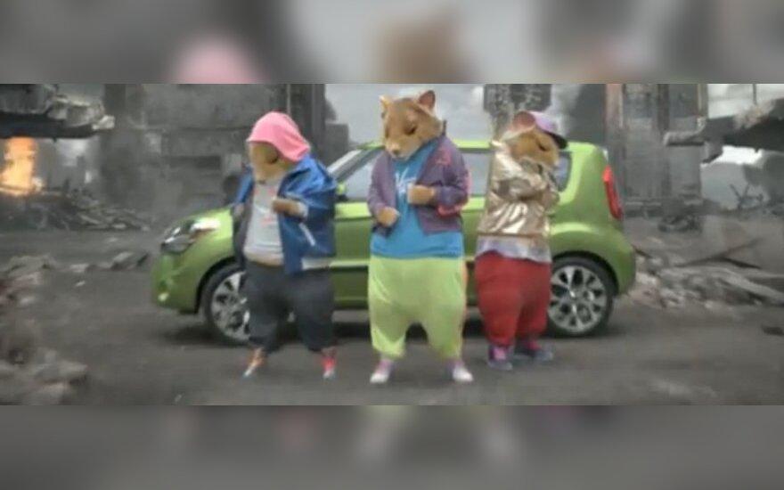 """Kia reklama """"Šokantys žiurkėnai"""""""