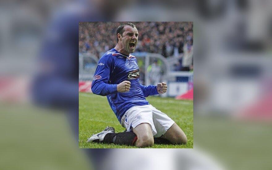 """A.Veličkos atstovaujamas """"Rangers"""" klubas įveikė Škotijos lygos autsaiderį"""