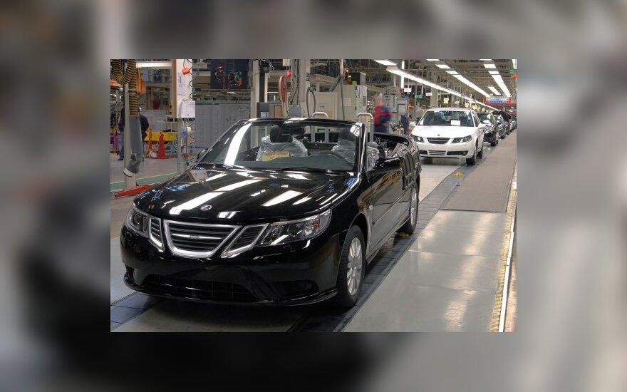 Švedijoje pagamintas Saab 9-3 kabrioletas