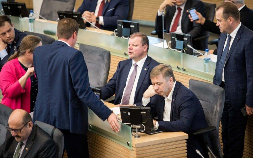Kęstutis Mažeika, Saulius Skvernelis, Ramūnas Karbauskis