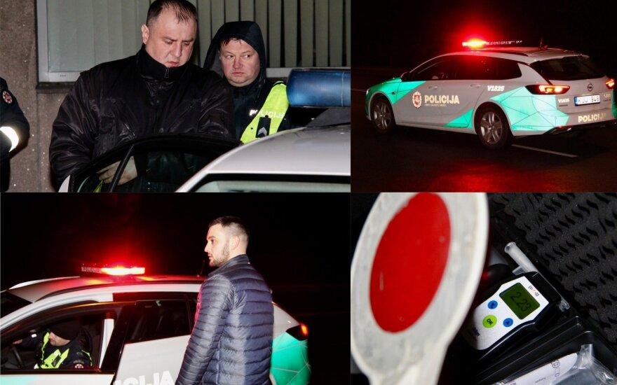 Naktinis reidas Vilniuje: pareigūnams įkliuvo girtutėlis apsaugininkas