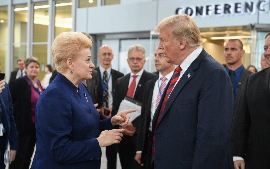 Grybauskaitei – netikėti Trumpo ir Macrono žodžiai