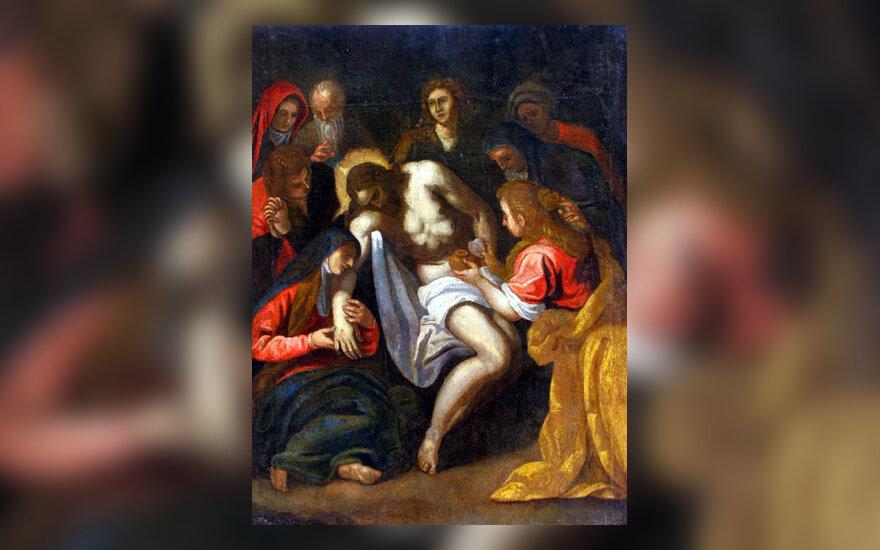 """Palma il Giovane, """"Kristaus apraudojimas nuėmus nuo kryžiaus""""."""