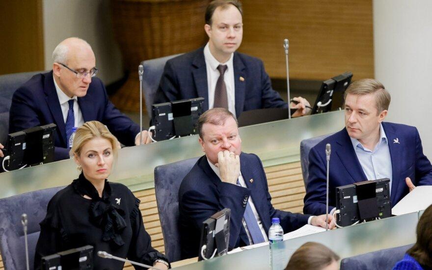Stasys Jakeliūnas, Aurelijus Veryga, Greta Kildišienė, Saulius Skvernelis ir Ramūnas Karbauskis