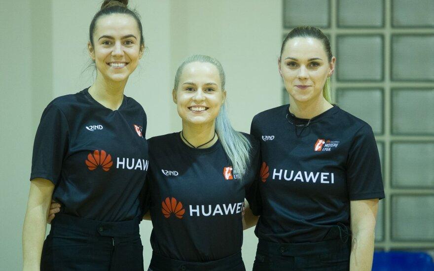 (iš kairės) Indrė Vilkuotytė, Milita Stalaučinskaitė, Indrė Balnionytė