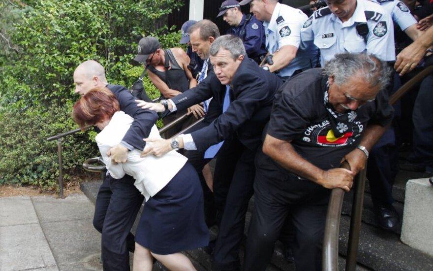 Australijos aborigenų išpuolį prieš premjerę išprovokavo jos padėjėjo paskelbta informacija