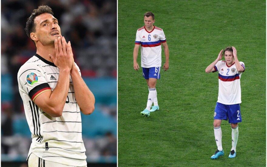 Euro 2020: nublankę rusai priminė Lietuvos rinktinę, o vokiečiai nuskriaudė patys save
