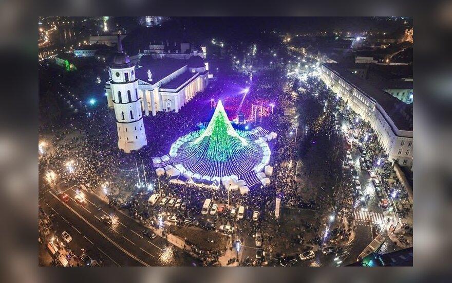 Vilniaus eglės nuotrauka, sužavėjusi internautus