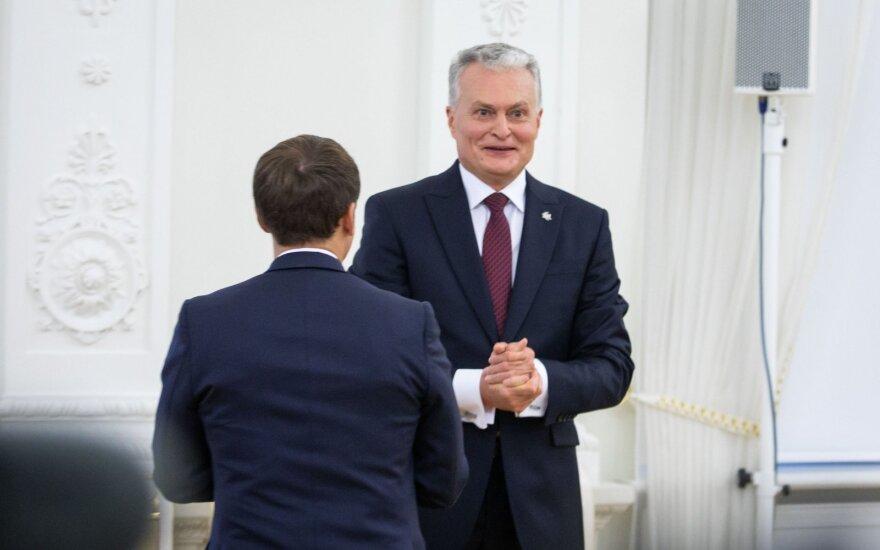 Gitanas Nausėda, Emmanuelis Macronas