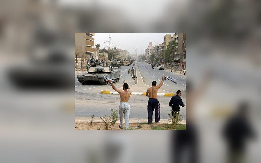 JAV tankai Bagdado centre