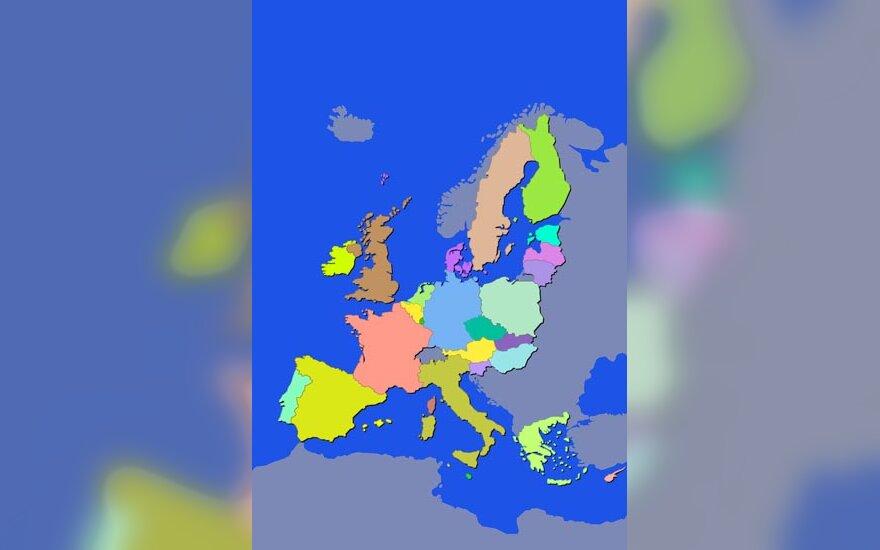 Europa, žemėlapis