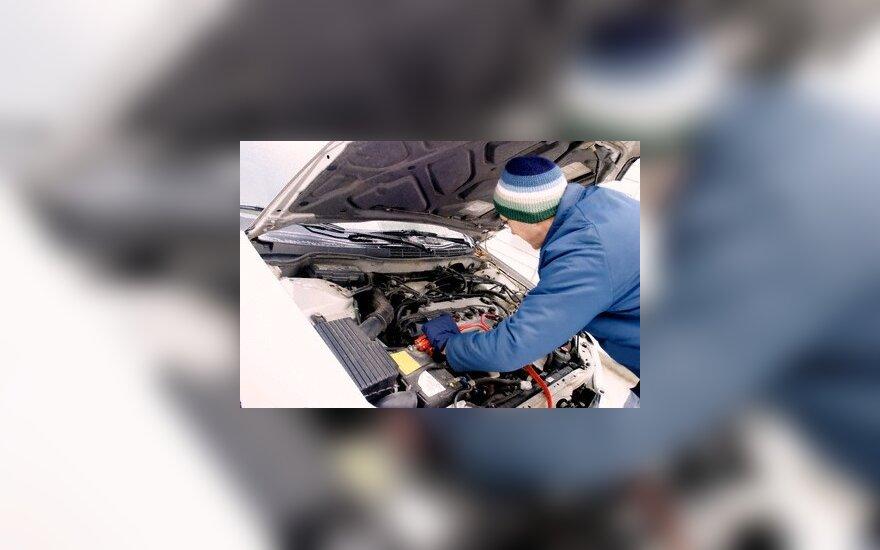 Automobilio variklio ilgai šildyti nereikia