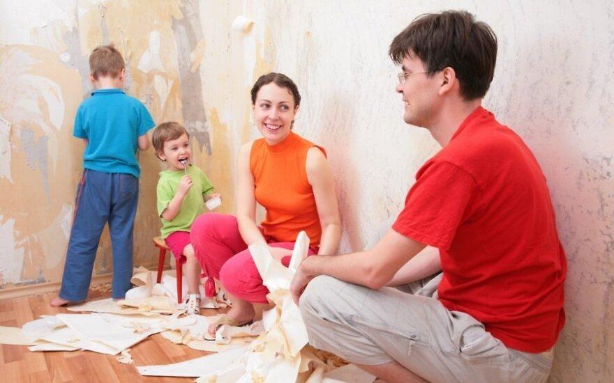 Kaip dažnai namie atliekate remontą?