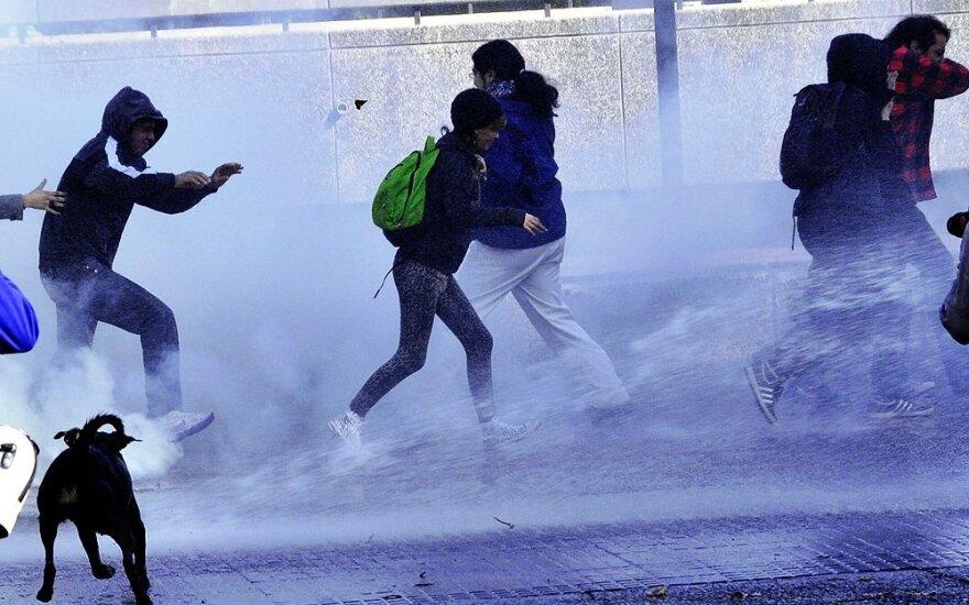 Čilės sostinėje Santjage - neramumai