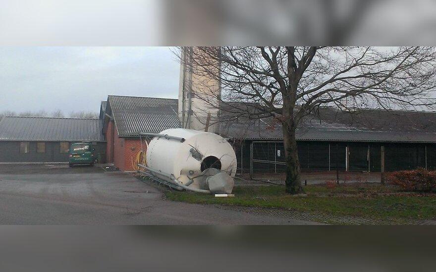 Užfiksavo uragano Ksavero siausmo padarinius Danijoje