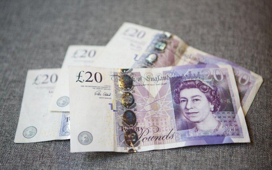 Pirmąjį ketvirtį Britanijos ekonomikos augimas sulėtėjo iki 0,4 procento